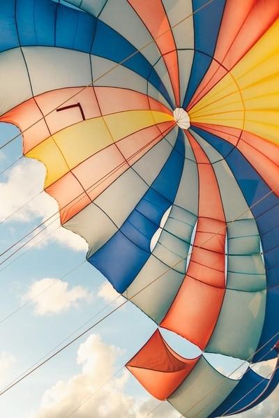 Under a kite