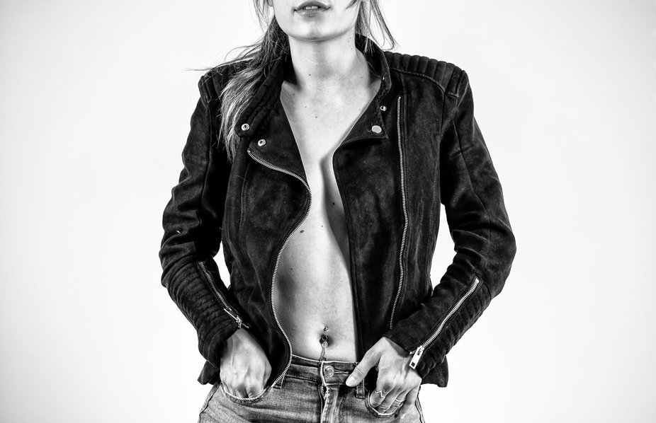 Picture of a girl with a jacket