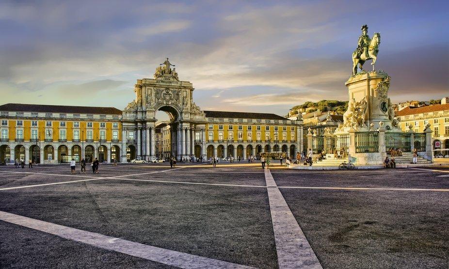 Terreiro do Paço, is a square in Baixa de Lisboa located next to the Tagus River, in the area th...