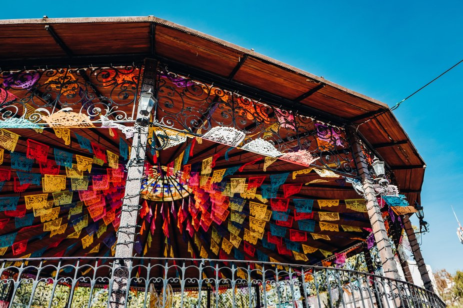 Kiosko en Plaza Hidalgo, Coyoacán