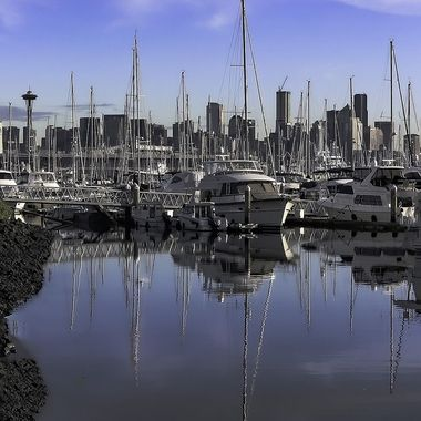 Downtown Seattle From Elliott Bay Marina