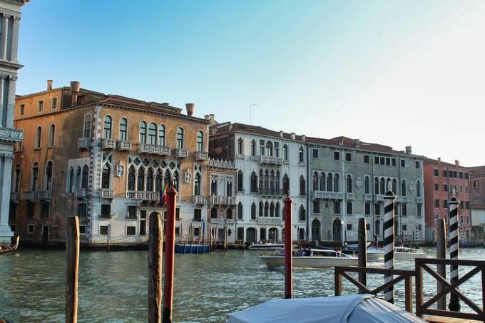 One of the wider canals in Venice.