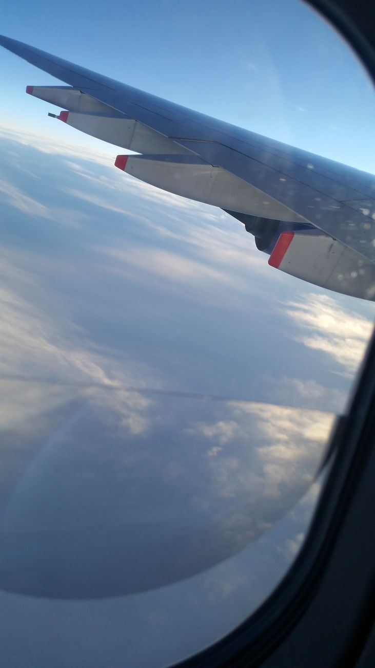 Flying over the Atlantic