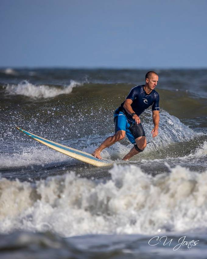 I love watching the Surfers of Folly Beach, South Carolina. The surfers have some great skills