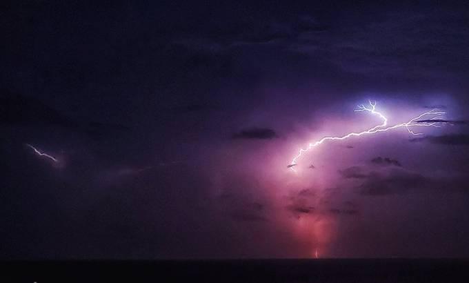 Amazing night capturing lightening over the Atlantic in Florida