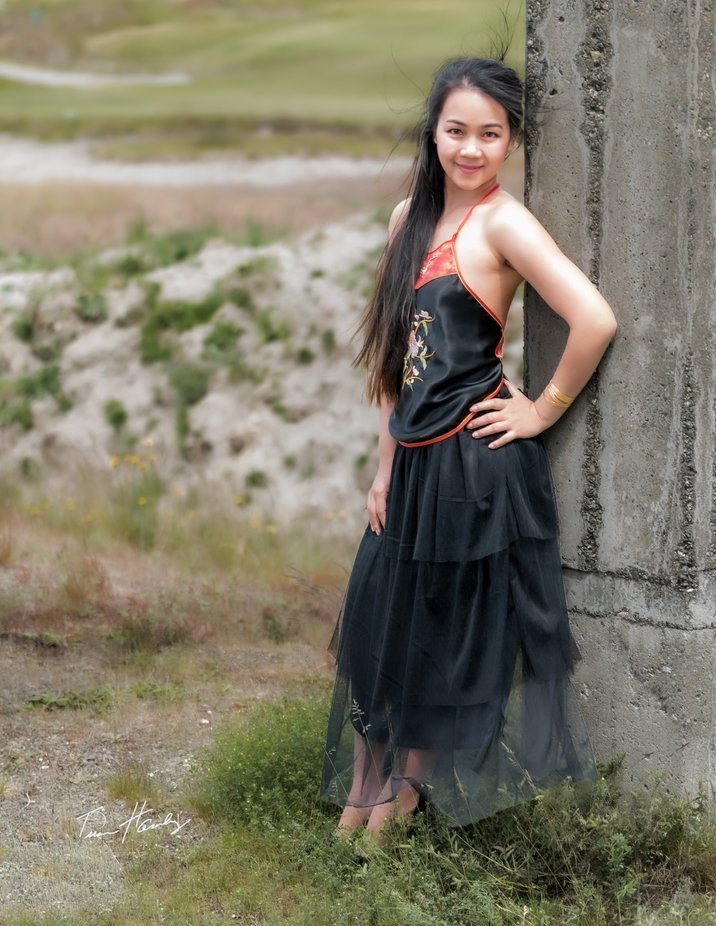 Juliessen Thoa fashion shoot in Ao Yem at Chambers Bay.