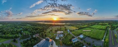 Drone Panorama with Lake Galena in the Background