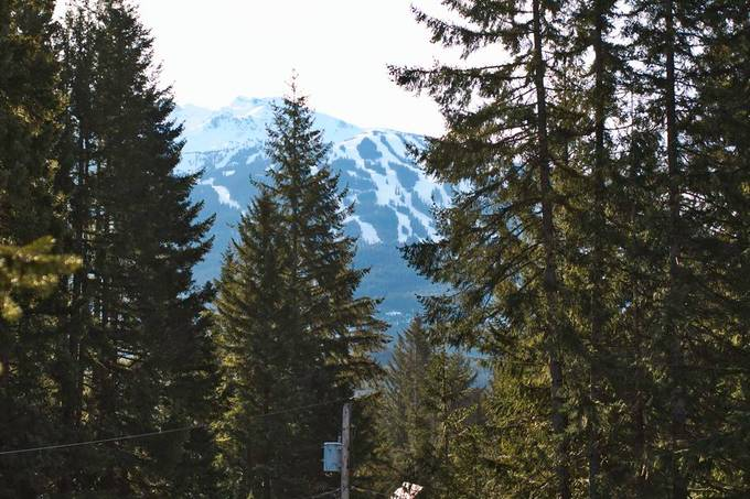 This is my view from the living room. Blackcomb Mountain in Whistler.