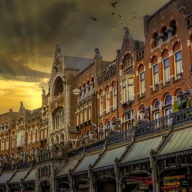 Famous street in Amsterdam : Raadhuisstraat