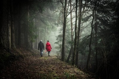 Walking Forest Couple