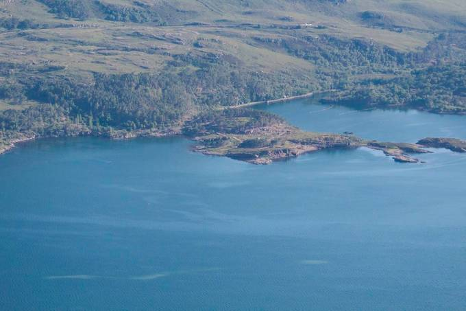 The Scottish coast line