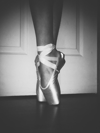 Pointe shoes are elegant