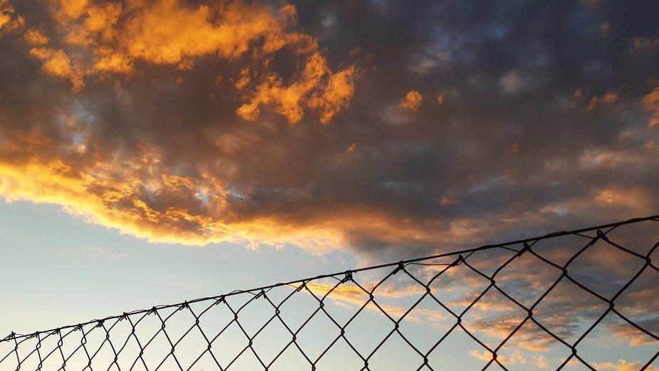 Fence of sky