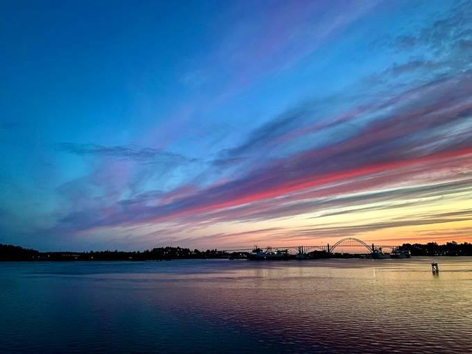 Newport at sunset