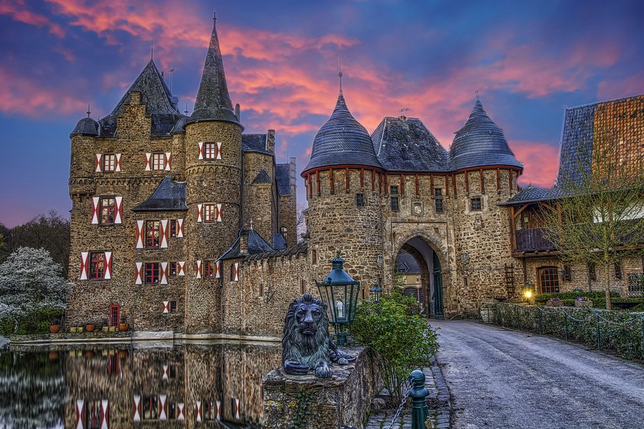 The magnificent castle of Satzvey in Germany.