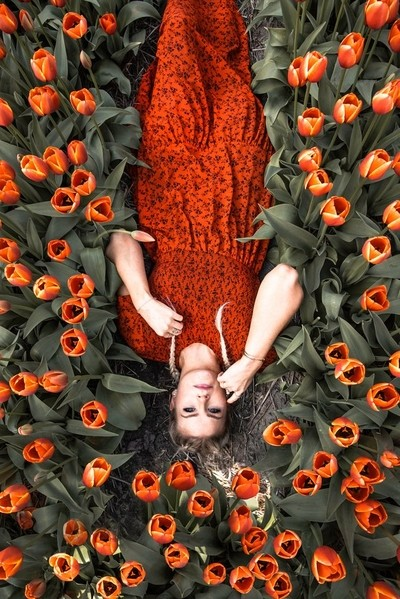 Tulip Fields Shot by Arielle Frioza
