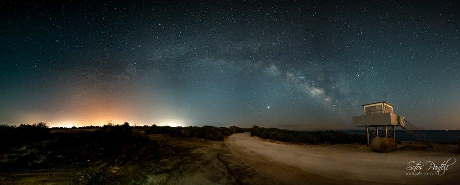 MW Galaxy on 2020.05.28 at Xylophagou coastline (Cyprus).  Pano of 5 exposures (Nikon D750   Samy...
