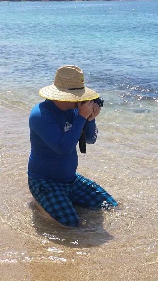 Todd photograhing the ocean