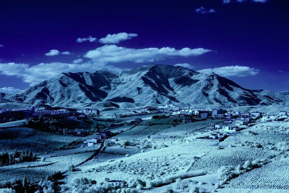 landscape in infrared