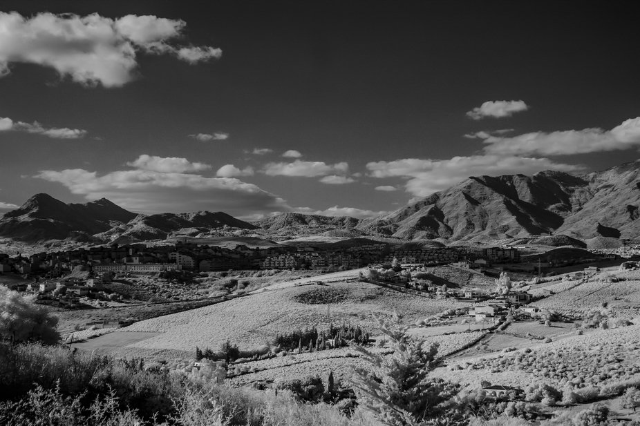 Southern Spain in infrared bw