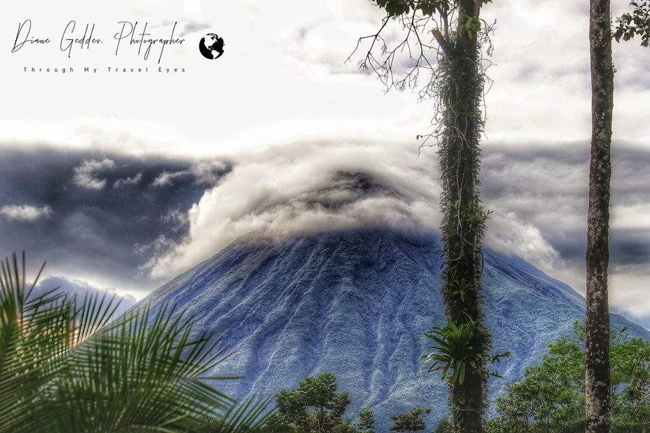 Swirling clouds atop Mt. Arenal, Costa Rica