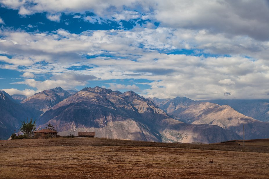 The Andes in Moray, Sacred Valley  Peru