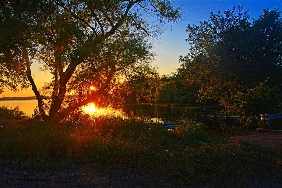 Sunrise at Lake Pat Cleburne Texas