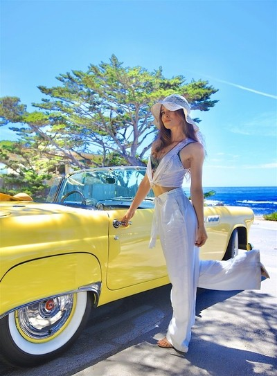 American Beauty, captured during recent model-promo shoot with classic car rental business