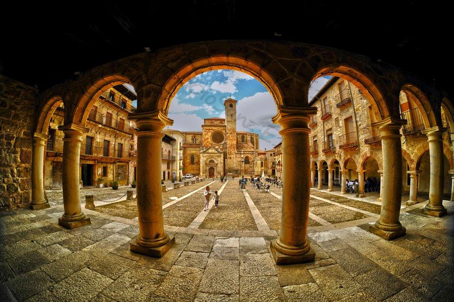 Siguenza (Guadalajara, Spain) Main Square.  XVI Century