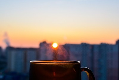 Good morning with a cup of excellent coffee
