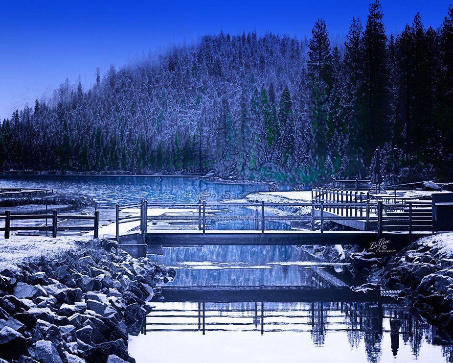 Visit to the beautiful winter wonderland at Hume Lake, California in the Sierra foothills after a frigid storm.