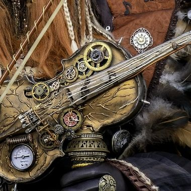 Steampunk violin.