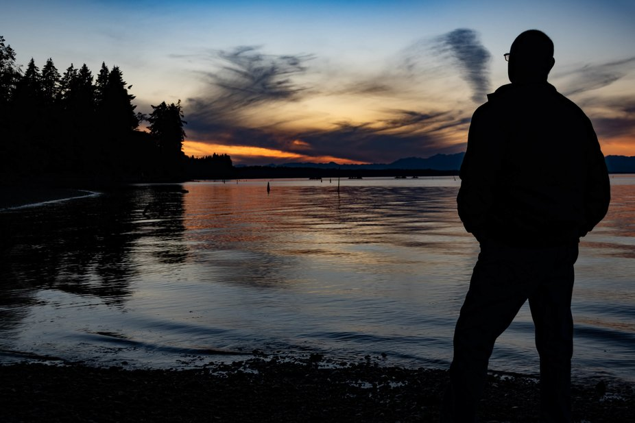 Selfie water sunset-061820 #Sunset #Nisqually #ArunRohilaPhotography