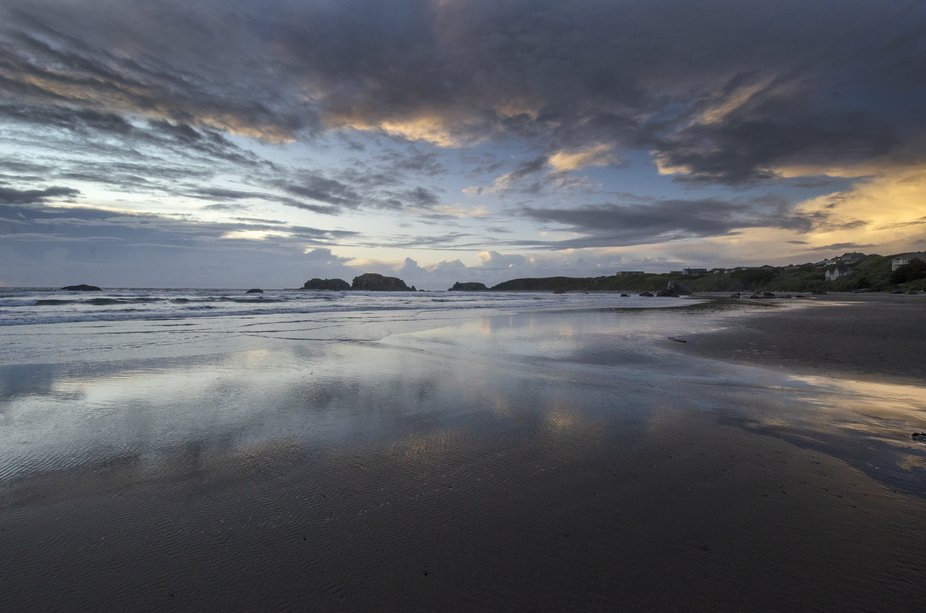 Sunset in coastal Oregon