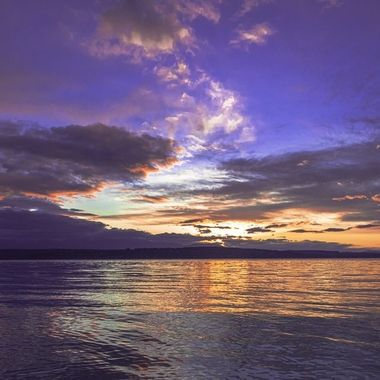 I came across this photo and it seems so fitting for todays mood. I love all the hope I see in the sky and the rainbow like effect of the sky. Hood Canal, Washington, USA