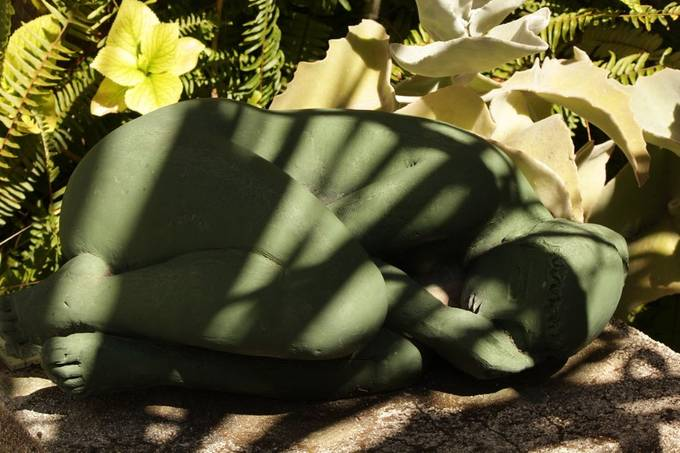 Sleeping in the shadows. I loved the play of the shadows on this stature from the Volti museum in Villefranche