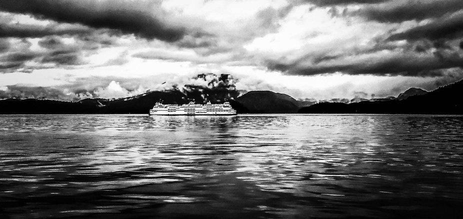 BC Ferries on the Ocean in British Columbia Canada. Scott Schellenberg Photo.