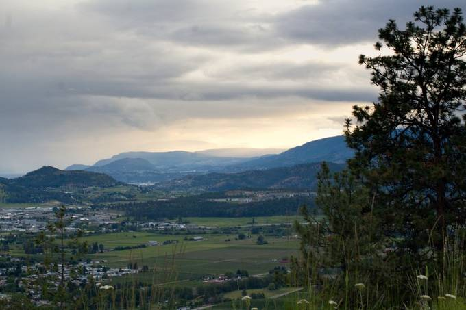 Kelowna city from the AirBnB we stayed at.