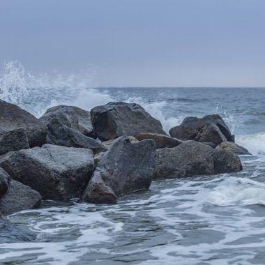 Foggy Folly Beach Sunrise