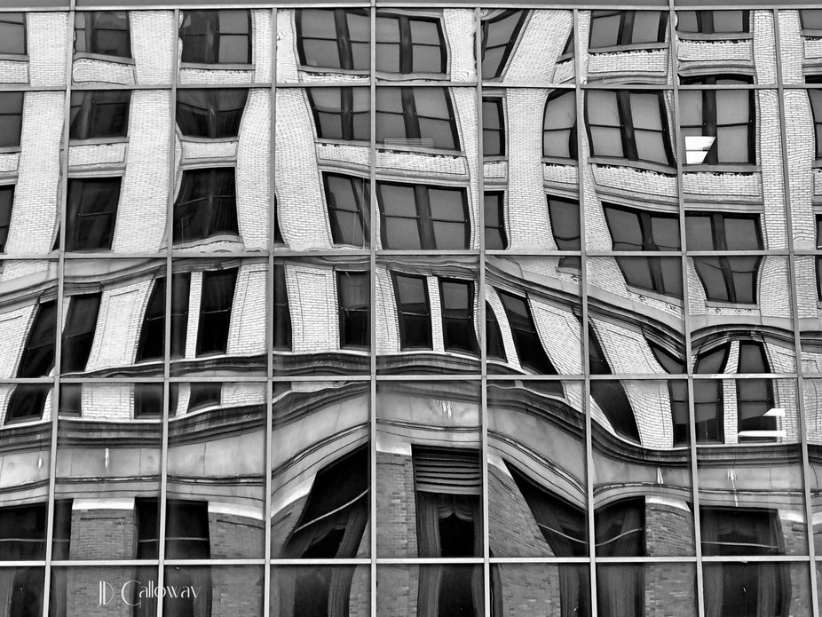 Reflections of a Downtown Building