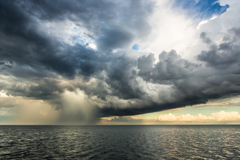 A storm rages on Lake Michigan