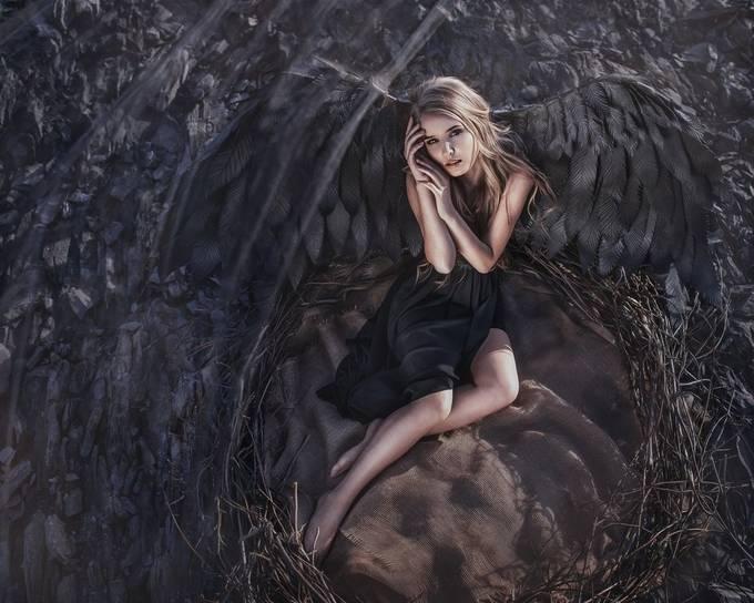 Katya by olga_wing - I Am Looking Down Photo Contest
