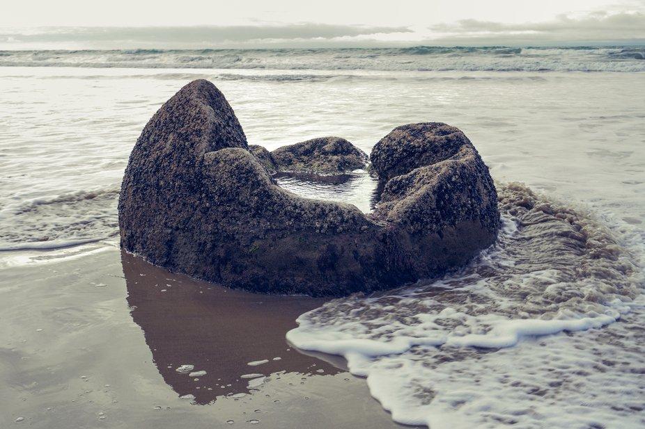 Even the broken look beautiful! Moeraki Boulders just out of Oamaru, NZ