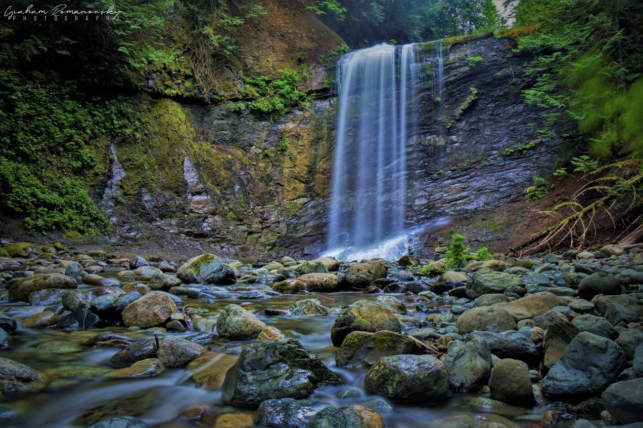 long exposure of Ammonite Falls in Nanaimo, BC.