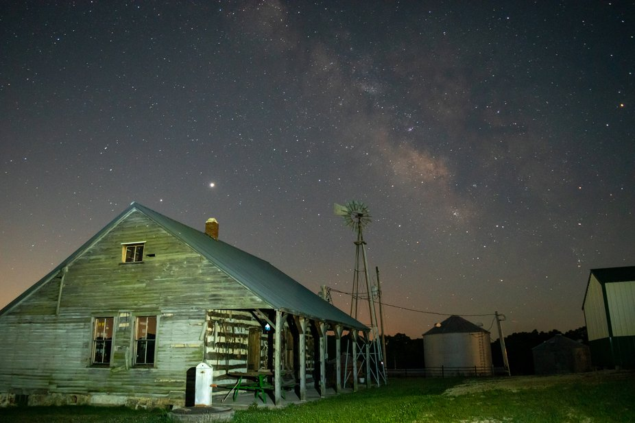 Photographing the Milky Way on an Old Farm.