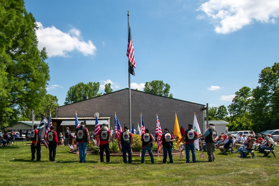 They retired three flags at the local Elks Lodge. The surrounding Amvets post helped out in this ...