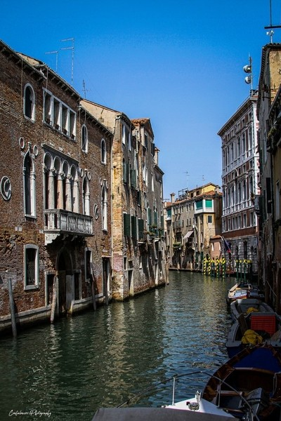 A channel in Venice, Italy