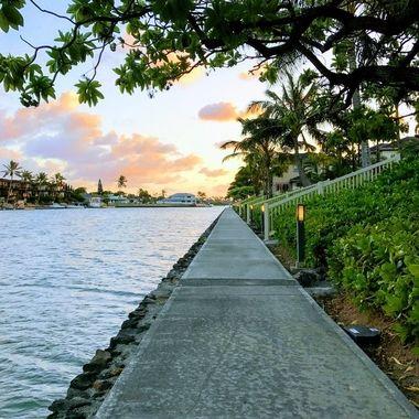Beautiful evening walk