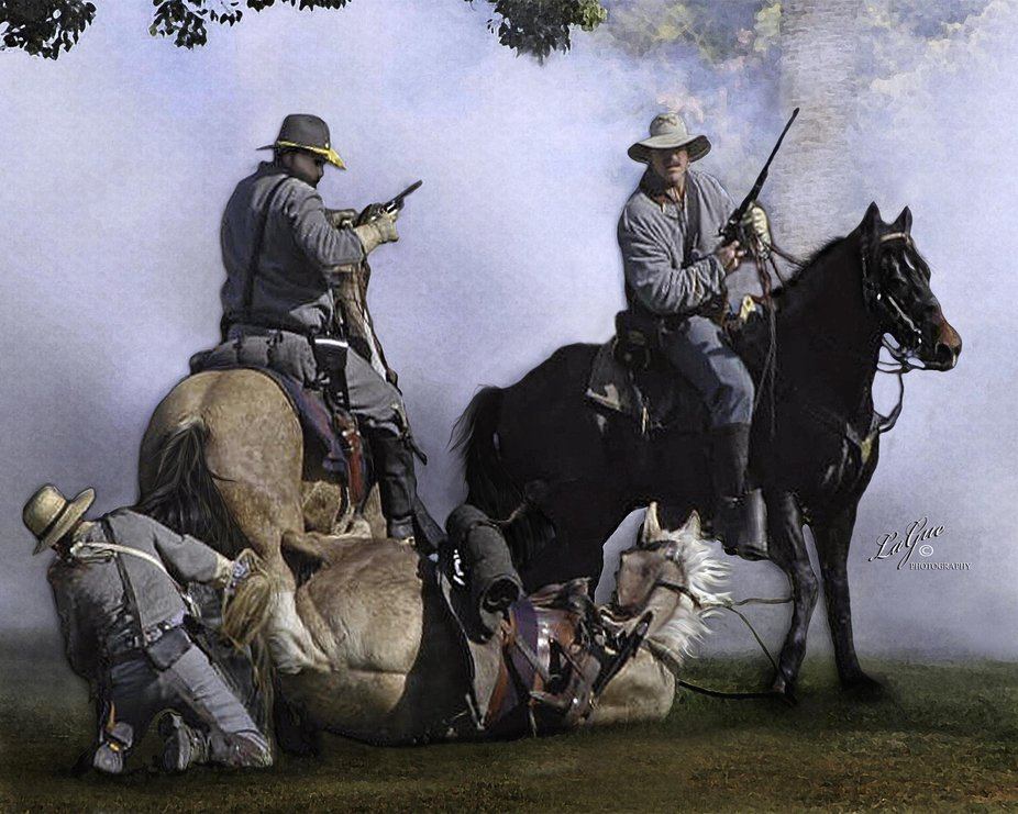 Unexpected fall, Horse down on the battlefield, but we have your back.