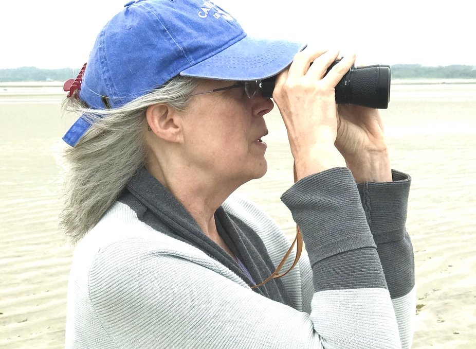 Ann with Binoculars